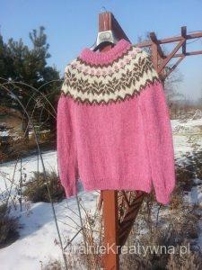 sweter islandzki icelandic sweater otylia bebenek naturalnie kreatywna 3